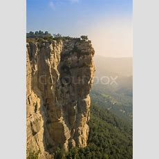 Cliffs At The Edge Of A Mountain, Located In Rupit, Spain