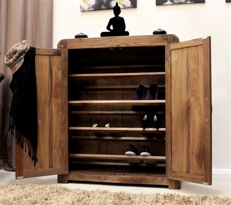 Shoe Cabinet Wood by Shiro Solid Walnut Wood Furniture Shoe Storage