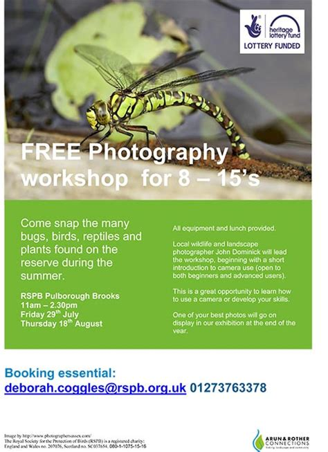 Free Photography Workshop For 8 To 15's Storrington