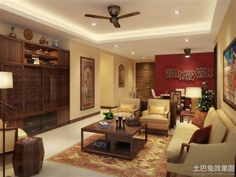 drawing room decor 中式上海房屋装修图片大全 土巴兔装修效果图