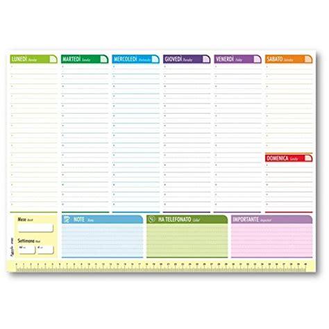 Planning Settimanale Da Scrivania by Planner Settimanale Da Scrivania 42x30 Agenda Planner Da