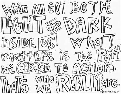 Potter Harry Coloring Pages Quotes Doodle Quote
