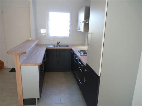 meuble cuisine faible profondeur free cuisine avec retour plan snack et meubles de