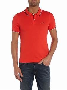 Tommy hilfiger Paddy Plain Slim Fit Polo Shirt in Red for ...