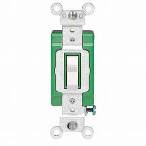 Leviton 30 Amp Industrial Double Pole Switch  White