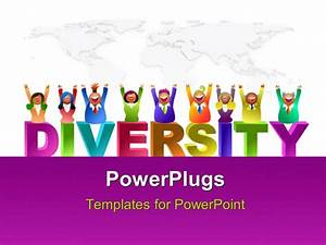 powerpoint template a number of kids enjoying the With diversity powerpoint templates free