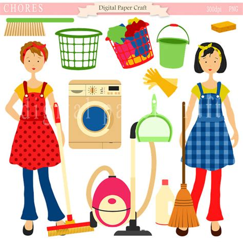 Housework Clipart Cleaning Clipart Home Clipart Maid