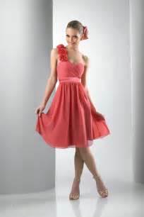 coral bridesmaid dresses one shoulder chiffon coral bridesmaid dress ipunya