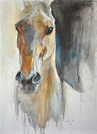 Watercolor Horse Head Drawings