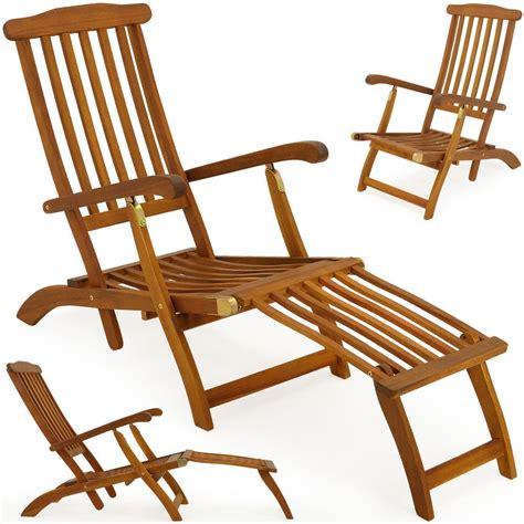 garden lounger wooden folding recliner