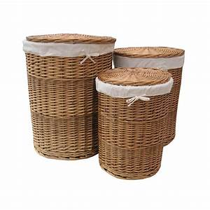 Buy, Natural, Round, Wicker, Laundry, Basket, Online, From, The, Basket, Company
