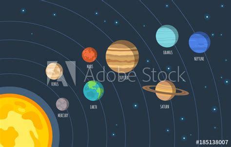 Solar System. Vector Illustration Of Cartoon Solar System