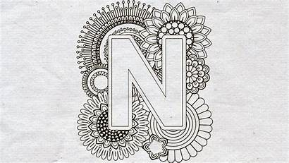 Mandala Svg Letter Cricut Monogram Split Zentangle