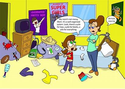 Mess Messy Clipart Bedroom Cartoon Clean Clip