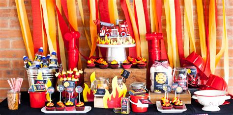 birthday party ideas for popsugar kara 39 s party ideas fireman firetruck archives kara 39 s
