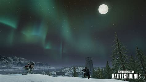 pubg adds snowbikes canted sights  northern lights
