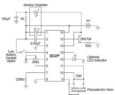 Smoke Detector Circuit Diagram Using