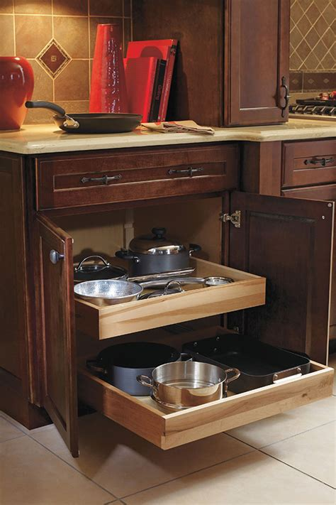 roll tray base cabinet decora cabinetry