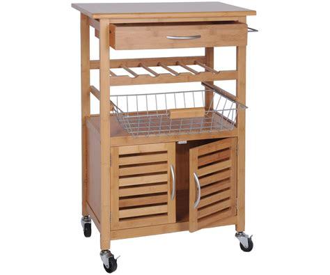 poubelle pas cher cuisine desserte de cuisine bambou massif meuble luxe a roulettes