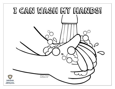 26 Hand Washing Coloring Pages For Preschoolers, 1000