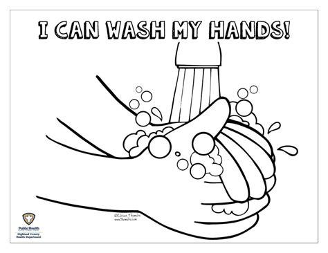Gambar Hand Washing Kids Coloring Pages Print Free