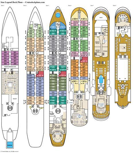 star legend deck  deck plan