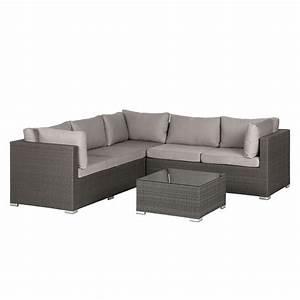 Polyrattan Lounge Grau : loungeset paradise lounge iii 6 teilig polyrattan webstoff grau hellgrau kings garden ~ Indierocktalk.com Haus und Dekorationen