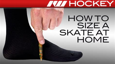 how to find your home how to find your hockey skate size fit at home youtube