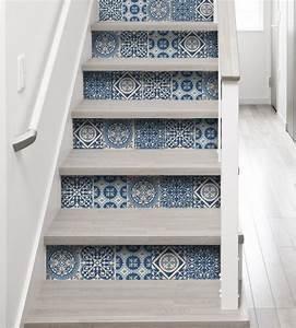Stickers Imitation Carreaux De Ciment : relookez votre escalier avec des stickers tout savoir en ~ Melissatoandfro.com Idées de Décoration