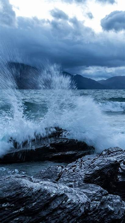 Ocean 4k Sea Rocks Wave Clouds Water