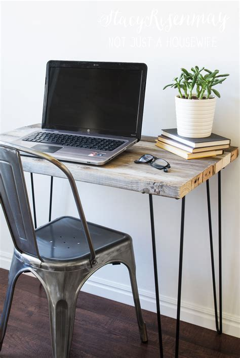 diy desk with hairpin legs how to build a diy reclaimed wood desk with hairpin legs