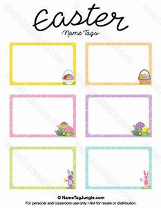 Free printable easter name tags the template can also be for Easter name tags template