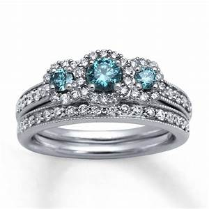 15 collection of blue diamond wedding ring sets With blue wedding ring set