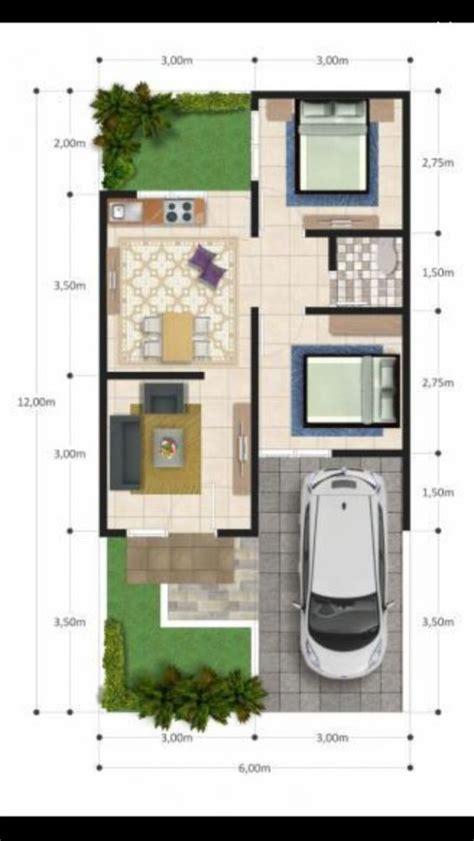 desain inspiratif denah rumah minimalis  lebar