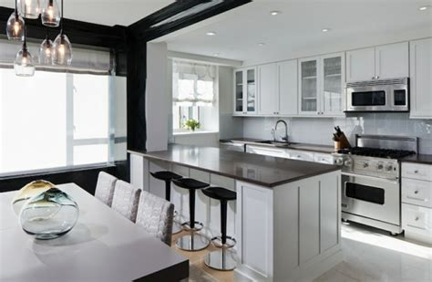 comptoir de cuisine noir comptoir de cuisine en 31 idées design