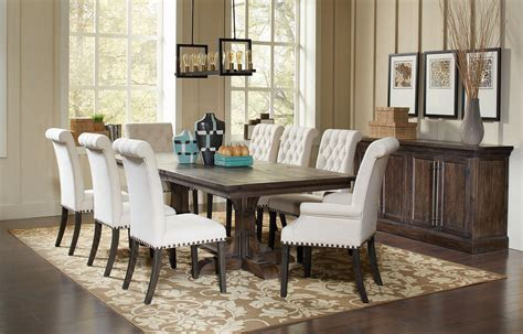 weber dining room set  cream chairs formal dining sets