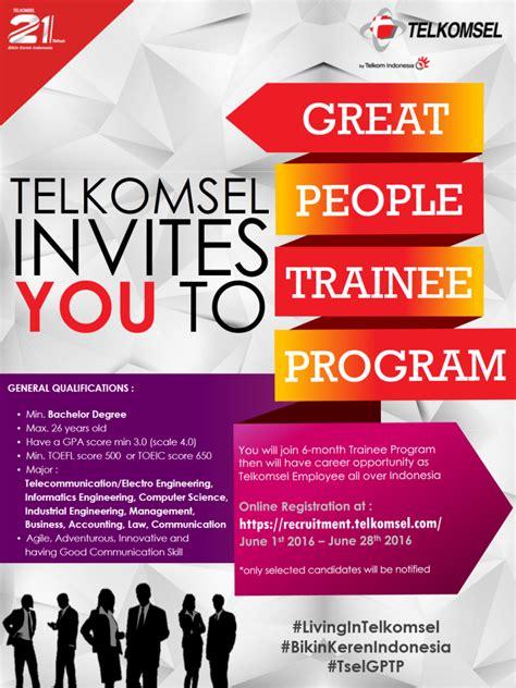 lowongan  telkomsel indonesia juni