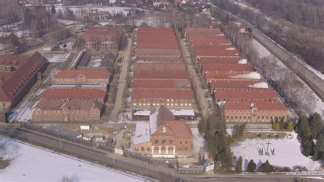 auschwitz concentration camp poland stock footage video