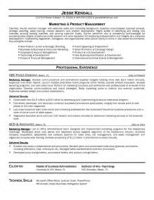 Trade Marketing Manager Resume Exles by Resume Templates Marketing Manager Bongdaao