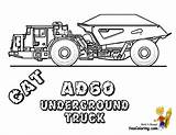 Coloring Pages Truck Construction Dump Cat Underground Digging Ad60 Excavator Mining Equipment Yescoloring sketch template
