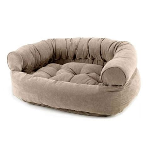 dog beds for the sofa bowsers microvelvet double donut dog bed sofa putty