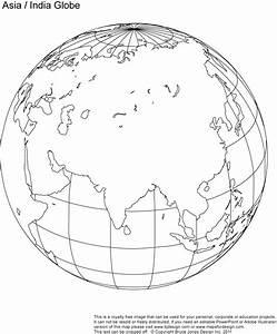Printable, Blank, World Globe Earth Maps • Royalty Free, jpg