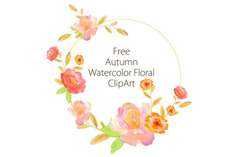 free watercolor clipart free autumn watercolor clipart by thehungryjpeg