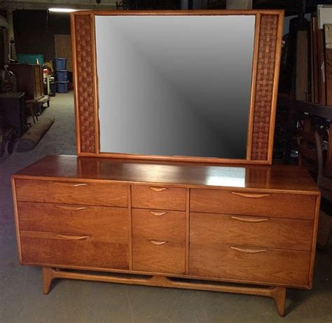 Ebay Dresser With Mirror by Vintage Perception Walnut Mid Century Modern Dresser