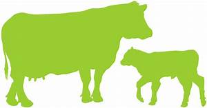 Cow and Calf Silhouette | Free vector silhouettes