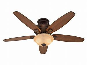 Hunter quot remote control ceiling fan w reversible