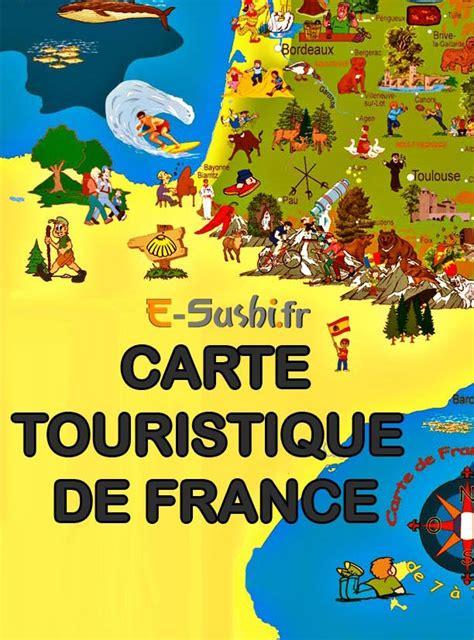 Carte De Touristique Ouest by Sud Ouest Carte Touristique Voyages Cartes