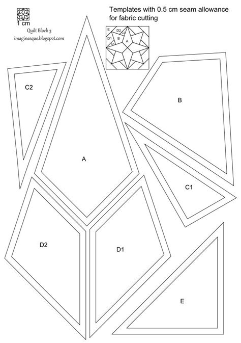 imaginesque quilt block  pattern  templates quilt