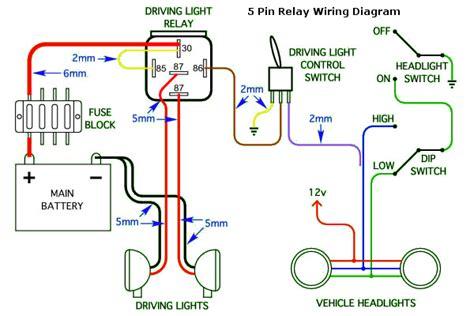 standard hid driving light wiring diagram get free image