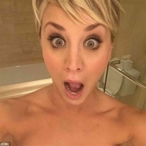 Kaley Cuoco Serious Cleavage And Surprised Nudity Pics